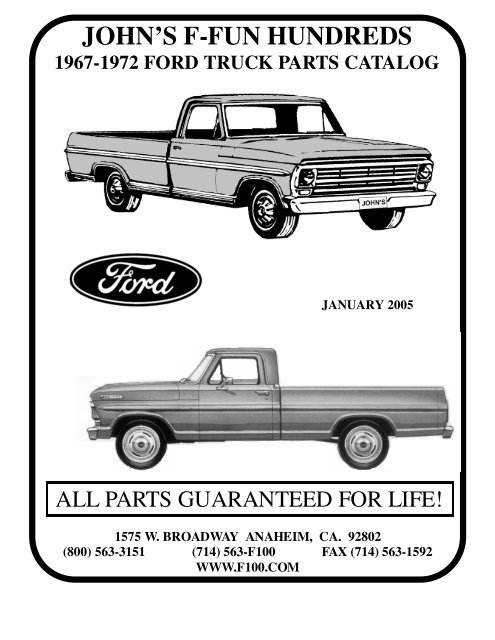Ford Truck Parts >> 67 72 Ford Truck John S F Fun Hundreds