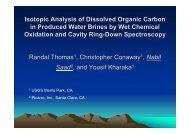 Isotopic Analysis of Dissolved Organic Carbon in Produced ... - Picarro
