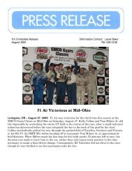 F1 Air Victorious at Mid-Ohio - RJ Valentine Racing and Business