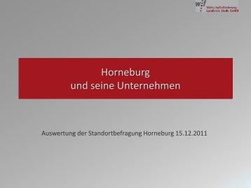 Auswertung der Standortbefragung Horneburg 15.12.2011