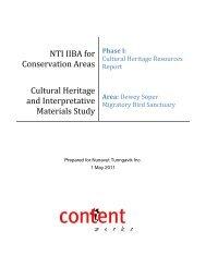 Cultural Heritage Resources Report – Dewey Soper MBS - Nunavut ...