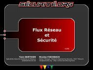 Flux réseau et sécurité - OSSIR