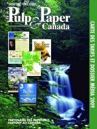carte des tarifs et do ssier m édia 2009 - Pulp and Paper Canada