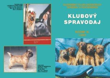 Spravodaj 1/2001 - Slovenský klub chovateľov teriérov a foxteriérov