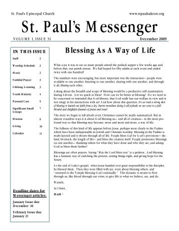 December Newsletter final - St. Paul's Episcopal Church