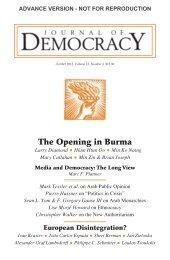 Min Zin and Brian Joseph - Journal of Democracy