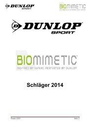 Produktbeschreibungen Tennis zum Download... - Dunlop