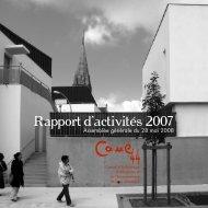 Rapport d'activités 2007 - CAUE