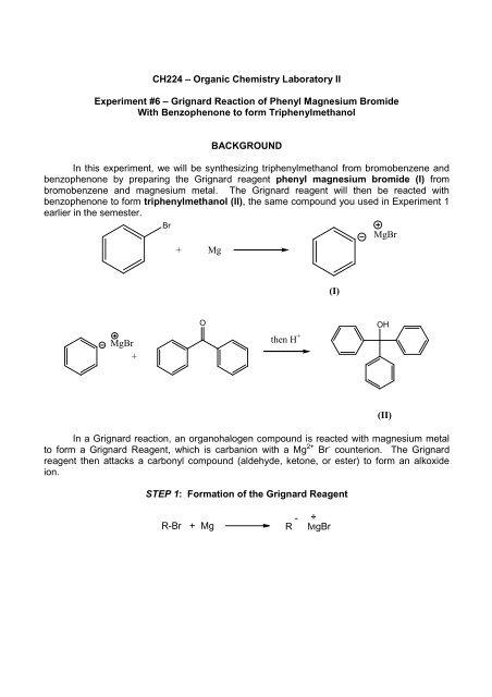 triphenylmethanol grignard