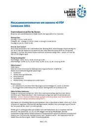 Holdlederinformation om badning på FDF Landslejr ... - Leder - FDF