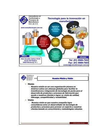 Cadmould - Consultores en Conformado y Procesos de ...