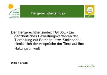 im Ökologischen Landbau in Österreich, Karl Erlach