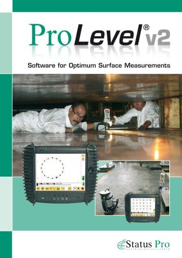Instruction manual of the ProLevel Software - Status Pro ...