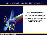 SYSTEM AUDITS OF IPA CBC PROGRAMMES   Dobrinka ... - Interact