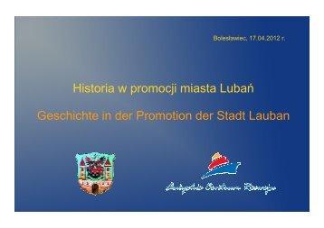 Historia w promocji miasta Lubania - Via Regia