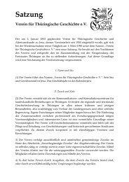 Satzung - Verein für Thüringische Geschichte e.V.