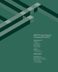 IdfC project Equity Company Limited