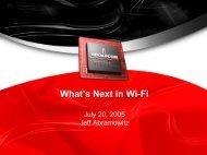 presentation - Wireless Communications Alliance