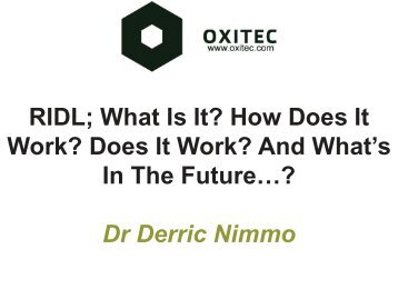 RIDL; What Is It? How Does It Work? Does It Work? And What's In ...