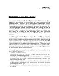 PEV Rapport de suivi 2011 – Tunisie - European Commission ...