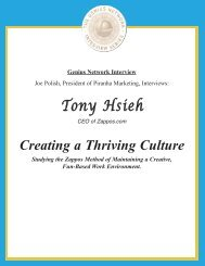 Creating A Thriving Culture - Joe Polish