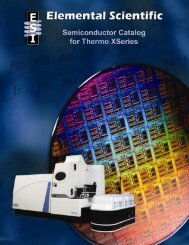 Semiconductor Catalog for Thermo XSeries - Elemental Scientific