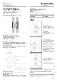TECTUS TE 540 3D - TECTUS Concealed Hinges from Simonswerk