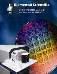 Semiconductor Catalog for Thermo Element - Elemental Scientific