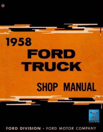 DEMO - 1958 Ford Truck Shop Manual - ForelPublishing.com