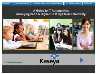 T&L eBook A Guide to IT Automation - Kaseya