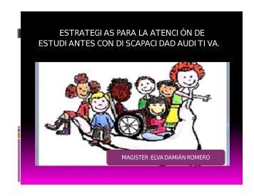 estrategias para la atención de estudiantes con discapacidad auditiva.