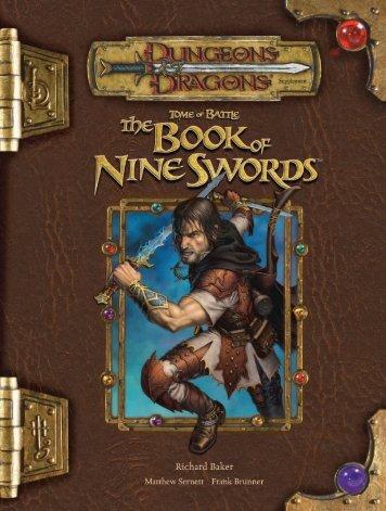 Tome of Battle, nine swords