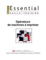 Opérateurs de machines à imprimer - Base de données en ...