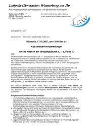 Klassenelternversammlung - Luitpold-Gymnasium Wasserburg am Inn