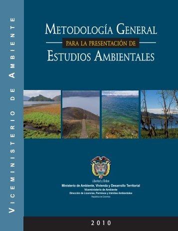 Metodología General Para La Presentación de Estudios Ambientales