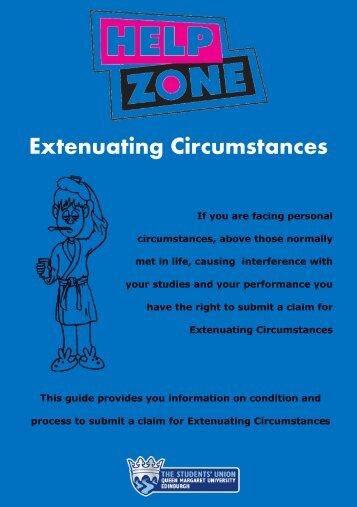 Extenuating Circumstances guidance