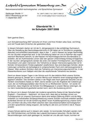 006 Elternbrief zum Schuljahresanfang 2007 - Luitpold-Gymnasium ...