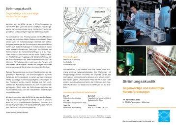 Faltblatt (PDF, 1.8 MB) - Deutsche Gesellschaft für Akustik eV