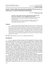 Genetic variation within and among three populations ... - Rombio.eu