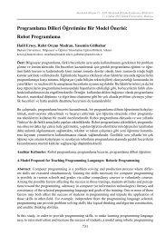 Programlama Dilleri Öğretimine Bir Model Önerisi - Akademik ...