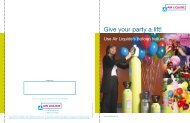 Air Liquide'sTM baloon helium - Give your party a lift! - BLUESHIELD