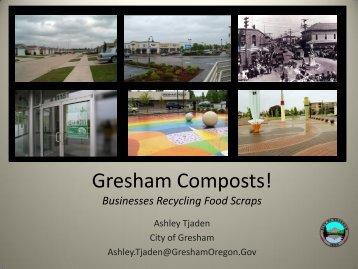 Gresham Composts! Businesses Recycling Food Scraps