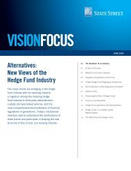 Alternatives: New Views of the Hedge Fund Industry - State Street