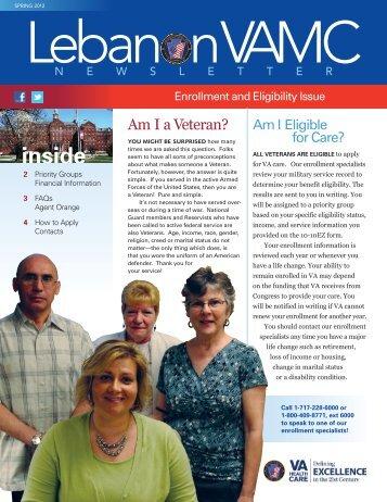 Spring 2012 Newsletter - Lebanon VA Medical Center
