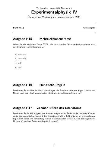 Experimentalphysik IV - Technische Universität Darmstadt