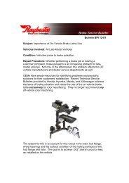 2012 - Pro-Cut USA On-Car Brake Lathes