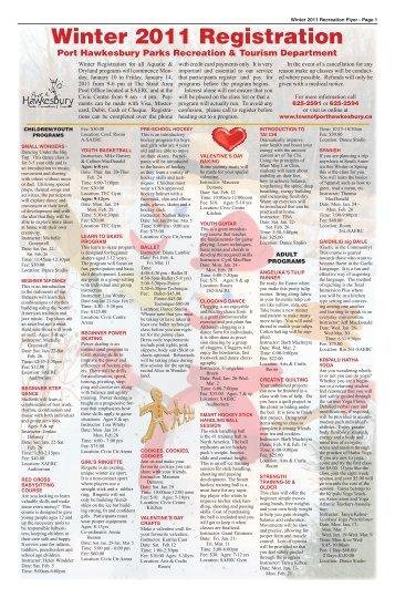 Winter 2011 Rec Guide.pdf - The Pictou Advocate