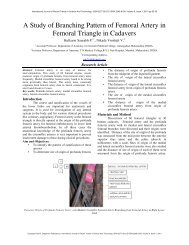 A Study of Branching Pattern of Femoral Artery in ... - Statperson