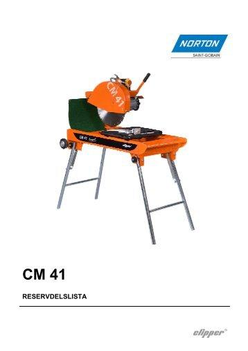 Clipper CM 41 - Reservdelslista - Saint-Gobain Abrasives