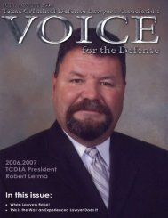 Texas Criminal Defense Lawyers Association - Voice For The ...